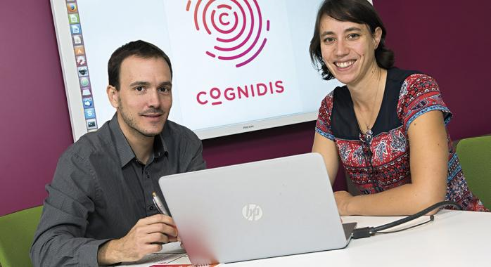 Olivier Audo, cofondateur de la start-up Cognidis avec Estelle Braillon.