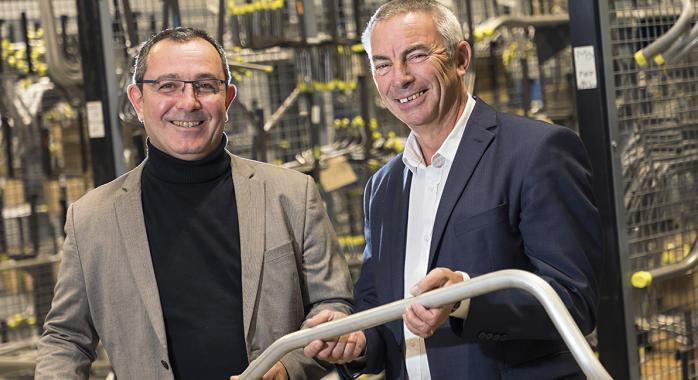 Philippe Yvetot, directeur commercial, et Alain Lebre, président du directoire.
