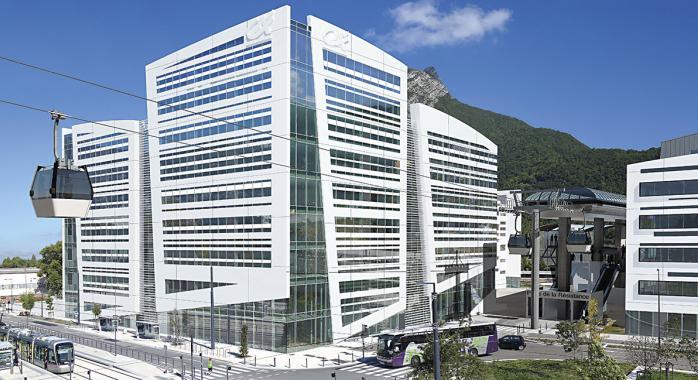 Vue d'architecte du siège du Crédit Agricole Sud Rhône Alpes