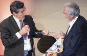 Emmanuel Sabonnadière, lors des Leti Innovation Days, avec Paul Boudre, directeur général de Soitec