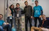 L'équipe de Carlhydro, premier prix du Startup Weekend Grenoble