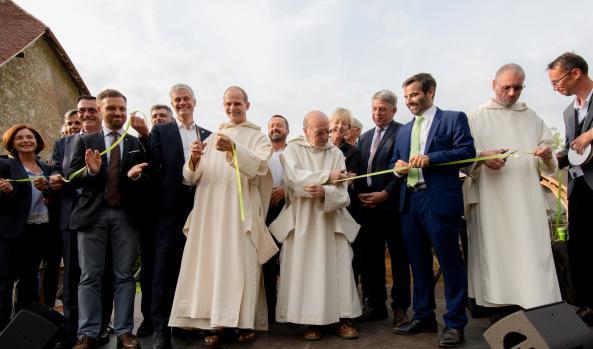 Inauguration de la nouvelle distillerie des Pères Chartreux, à Aiguenoire © Stéphane Couchet