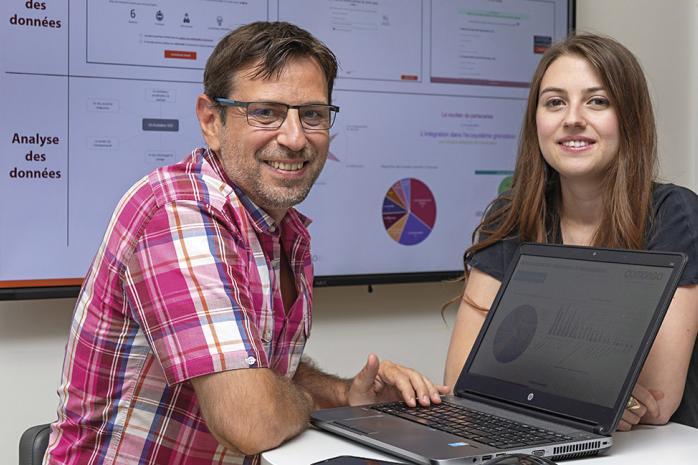 Stéphane Labartino, fondateur, et Pauline Soutrenon, associée et responsable R&D de Comongo